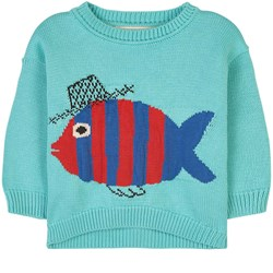 nadadelazos Fish & Blub Sweater Light Ocean