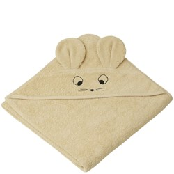 Liewood Albert Hooded Towel Mouse/Wheat Yellow