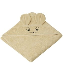 Liewood Augusta Hooded Towel Mouse/Wheat Yellow