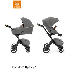 Stokke® Xplory® X Stroller and Carrycot Modern Grey
