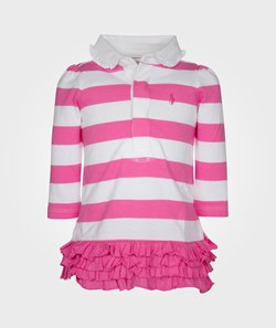 Ralph Lauren LS Eu Rugby Dress Bermuda Pink Multi