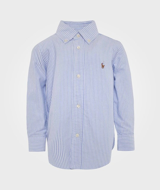 Ralph Lauren Custom Fit-Tops-Shirt Blue/White Multi