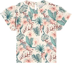 Minymo Floral Bluse White Swan