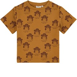 MAINIO In the Same Boat T-shirt Golden Brown