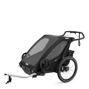Image of Thule Chariot Sport 2 Double Cykelvogn Midnight Black one size (1887952)