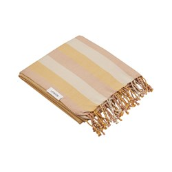 Liewood Mona beach towel stripe: Peach/sandy/yellow mellow
