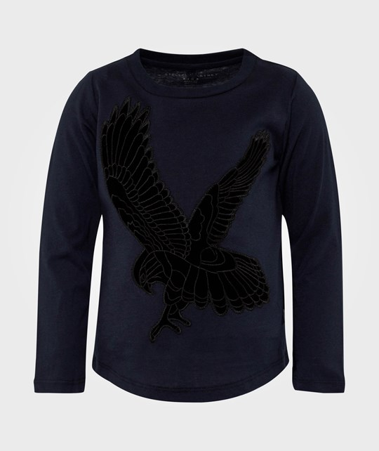 Stella McCartney Kids George Kestrel Embo LS Tee Night Black
