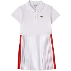 Lacoste Pleated Polo Dress White