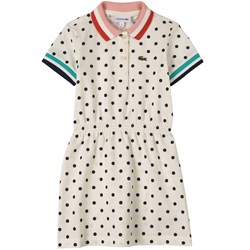 Lacoste Polka Dot Polo Dress White