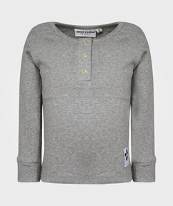 Mini Rodini Basic Ls Grandpa, Grey Mel