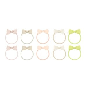 Image of Mimi & Lula Pack of 10 Bow Hair Bands one size (1736584)
