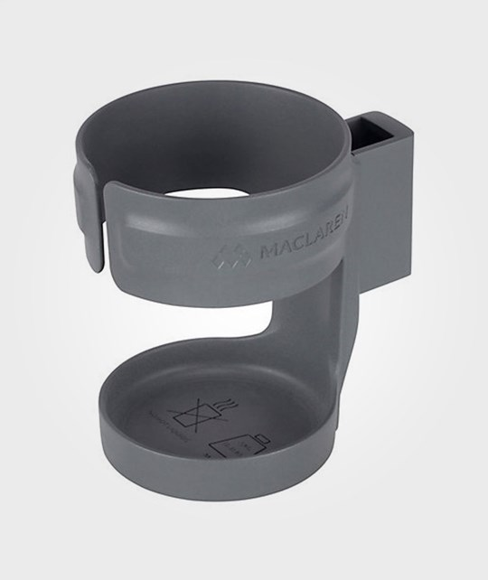 Maclaren Hard Cup Holder Plain Charcoal Black