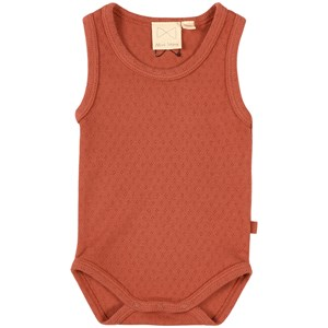 Image of Mini Sibling Body Suit Brick Red 0-3 months (1875237)