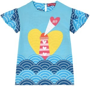 Image of Agatha Ruiz de la Prada Blue Lighthouse Print Dress 10 år (1737012)