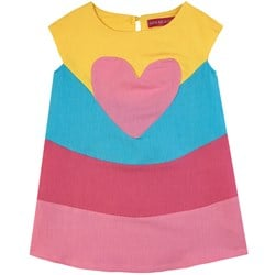 Agatha Ruiz de la Prada Colorblock Heart Detail Tiered Dress Klänning Lila