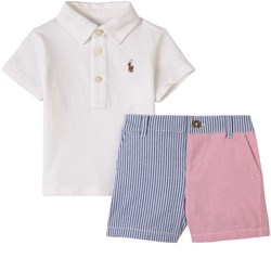 Ralph Lauren Color Block Skjortset Vitt