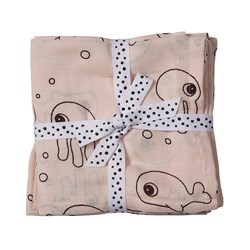 Done by Deer Swaddle 2-pack Sea friends Powder