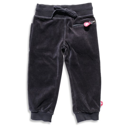 Kik Kid Trousers Velvet Grey Sort