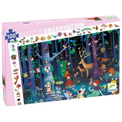 Djeco Observation Puzzle, Enchanted Forest 200 pcs