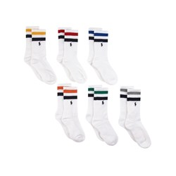 Ralph Lauren 6-Pack Logo Socks White