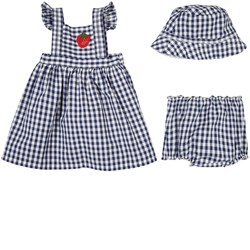 Sonia Rykiel Gingham Dress Set Blue