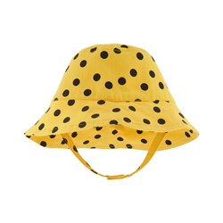 nadadelazos Bb Hat Black Minidots Sun Yellow