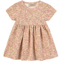 Wheat Bees and Flowers Dress Dusty pink