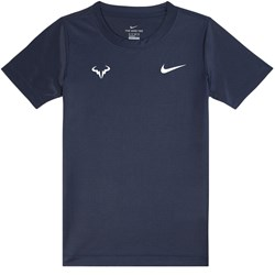 나이키 Navy Nadal Logo Branded Dri-Fit T-shirt