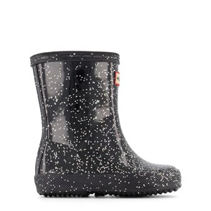 Image of Hunter Black Giant Glitter First Classic Wellies 21 (UK 4) (1853722)