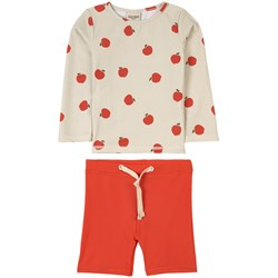 Kuling Rhodes Two-piece Rash Guard Swimsuit Red Apple