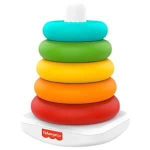 Image of Fisher Price Eco Rock-a-Stack Stak Legetøj 6 mdr. - 3 år (1849401)