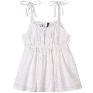 How To Kiss A Frog Lace Tie Strap Tank Top Hvid 6 år