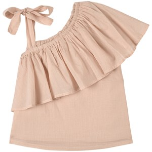 How To Kiss A Frog One Shoulder Ruffle Luanne Top White Punch 5 år