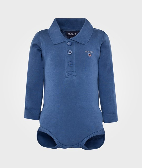 Gant Boy Solid Body With Collar Poseidon Blue Blue
