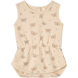 Image of Rylee + Cru Butterfly Romper Natural 0-3 months (1803761)
