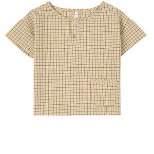 Image of Rylee + Cru Grid Woven Top Butter 12-18 mdr (1804156)