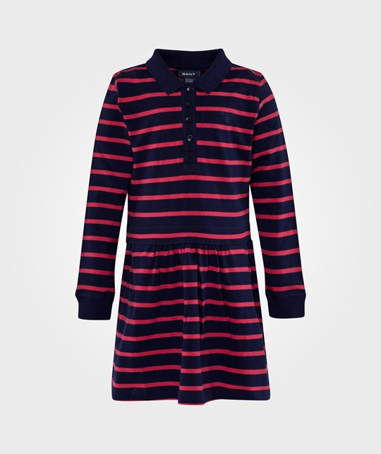 Gant E. Stripe Ls Rugger Dress Dark Cobalt Blue Blue