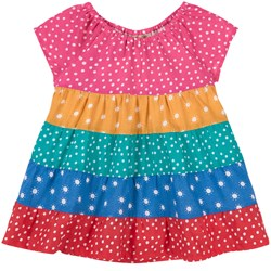 Frugi Dorothy Twirly Dress Rainbow