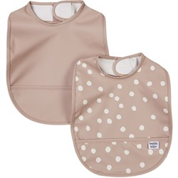 Buddy & Hope 2-Pack Dots Haklappar Taupe