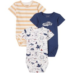 Hust&Claire 3-pakning Bruno Baby Bodyer Blue Moon