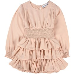 How To Kiss A Frog Ruffle Detail Ruthie Dress Powder