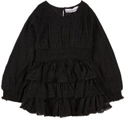 How To Kiss A Frog Ruffle Detail Ruthie Dress Black