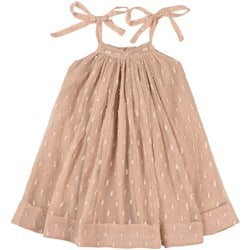 How To Kiss A Frog Dot Strappy Toni Dress Beige