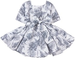 How To Kiss A Frog Bow Detail Siona Dress White Palm
