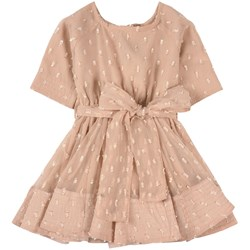 How To Kiss A Frog Bow Detail Siona Dress Beige Dot