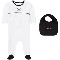 Karl Lagerfeld Kids Footed Baby Body White