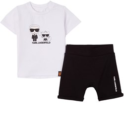 Karl Lagerfeld Kids T-shirt And Shorts Set White