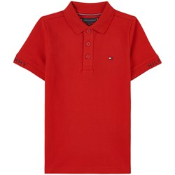 Tommy Hilfiger Logo Polo Shirt Red