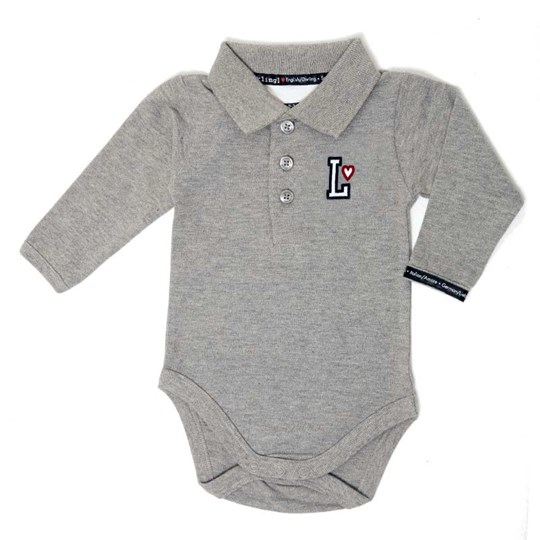 Lundmyr Of Sweden Onesie Pique Grey Black