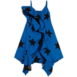 NUNUNU Star Print Dress Blue